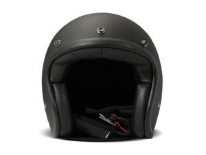 Matt Black Helmschale aus Glasfaser 3