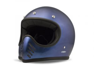 SeventyFive Metallic Blue Helm aus Kohlenstoff-Kevlar-Faser Innenfutter
