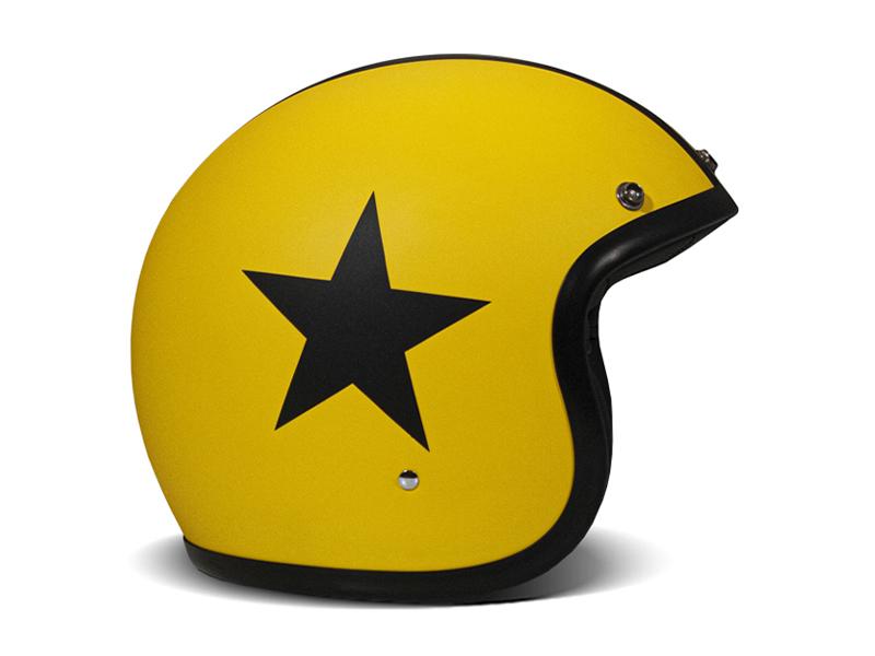 Casco jet vintage STAR YELLOW giallo