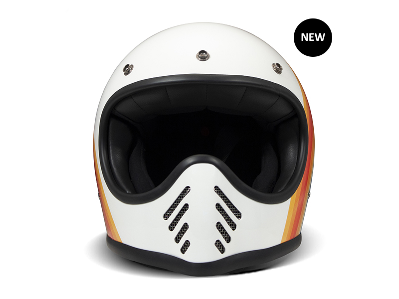 Casco integrale moto vintage bianco EIGHTY